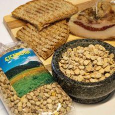 Cicerchia con pane tostato azienda agricola km0