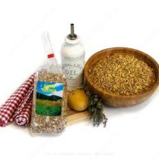 zuppa rustica farro orzo e lenticchi azienda agricola lavosi maurizio con olio patate e timo